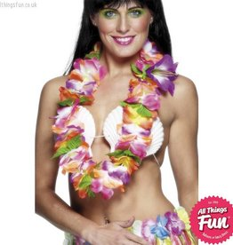 Smiffys Multi Coloured Large Flower Hawaiian Lei