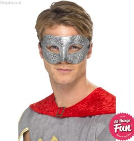 Smiffys Metallic Warrior Colombina Silver Eyemask