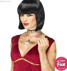 Smiffys *DISC* Egyptian Metallic Transfer Tattoos