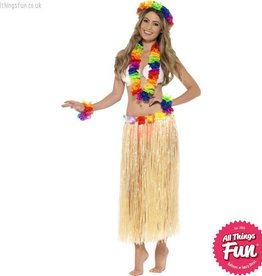 Smiffys Rainbow Hawaiian Set
