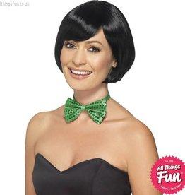 Smiffys Green Sequin Bow Tie