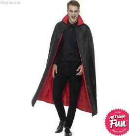 Smiffys Reversible Black & Red Vampire Cape