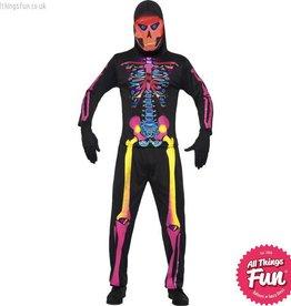 Smiffys *DISC* Neon Male Skeleton Medium