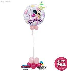 Minnie Mouse Birthday Bubble Design