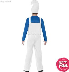 Smiffys *DISC* Male Blue & White Garden Gnome Costume