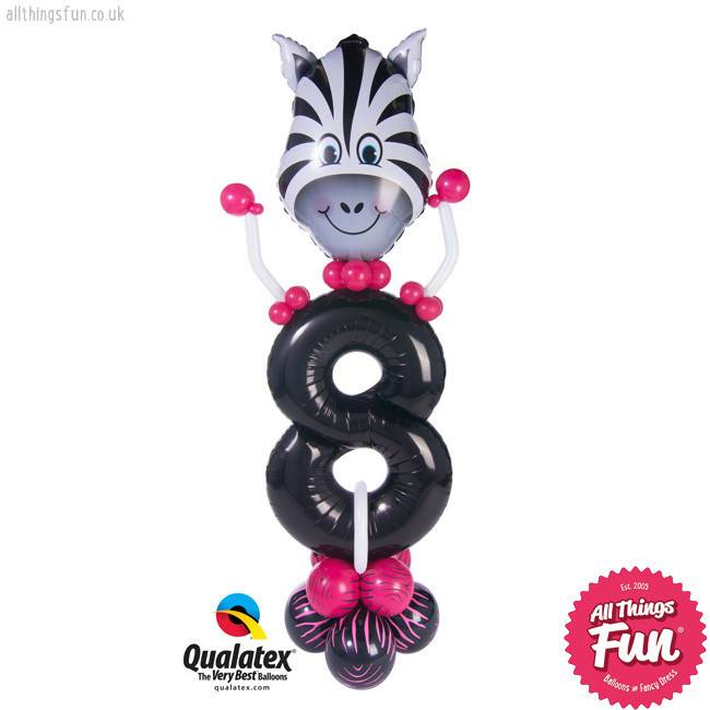 Birthday Zebra Party Friend Number (Ages 1 to 9)