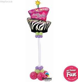 Birthday Zebra Cake Giant Design