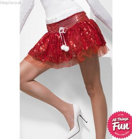 Smiffys Red Santa Sequin Tutu