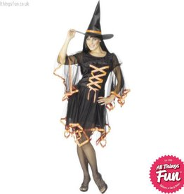Smiffys *DISC* Orange Winsome Witch Small