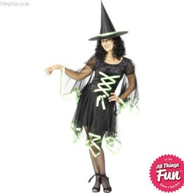 Smiffys *DISC* Green Winsome Witch Large