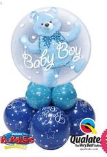Baby Boy Bear Double Bubble Super
