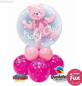 Baby Girl Bear Double Bubble Super
