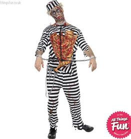 Smiffys *DISC* Zombie Convict Costume Medium