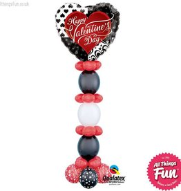 Valentine's Black Hearts Giant Tower