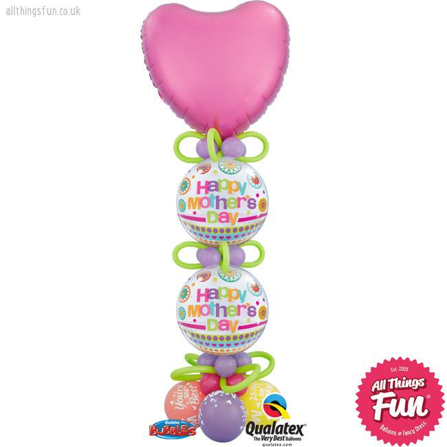 Happy Mother's Day Bubble Column