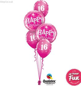 Milestone Pink Birthday Sparkle Classic (Ages 13 to 60)