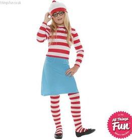 Smiffys *Star Buy* Where's Wally? Wenda Child Costume