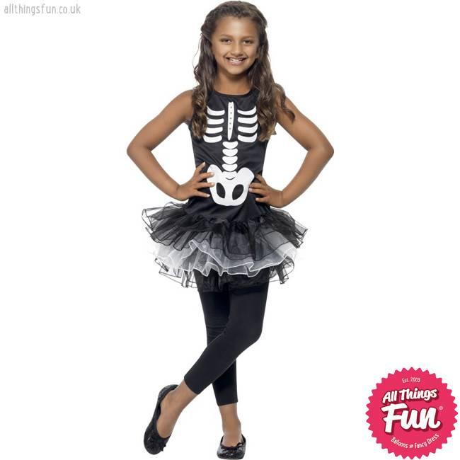Smiffys Skeleton Tutu Costume ...  sc 1 st  Things Fun - Balloons u0026 Fancy Dress - Peterlee & Smiffys Skeleton Tutu Costume - All Things Fun - Balloons u0026 Fancy Dress
