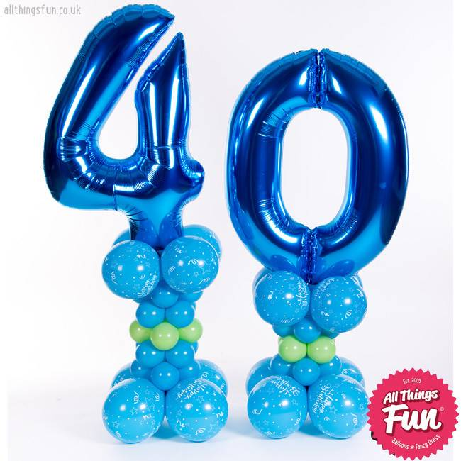 Birthday Tower Pair Blue (Any Age)