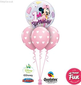 Minnie Mouse 1st Birthday Bubble Layer