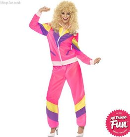 Smiffys 80's Height of Fashion Pink Shell Suit