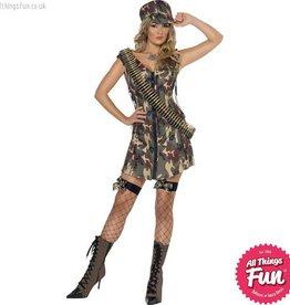 Smiffys Fever Army Girl Costume