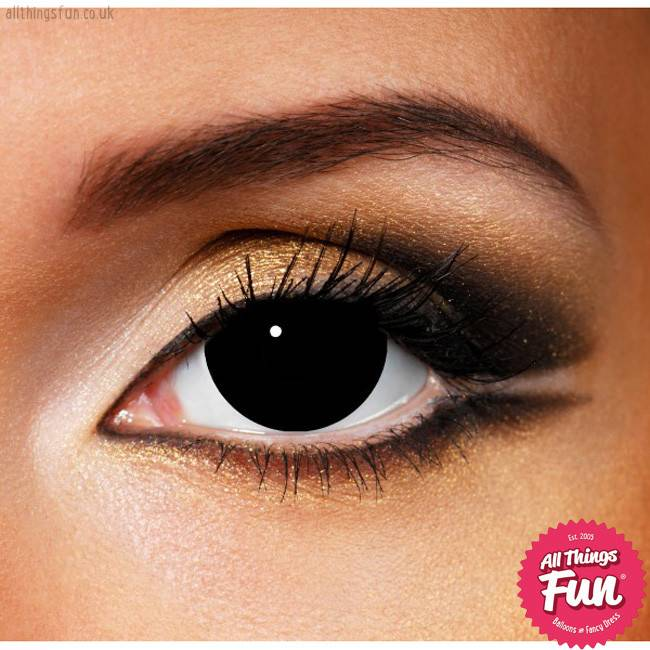 Funky Vision Mini Sclera Black Cosmetic Lens - 90 Day