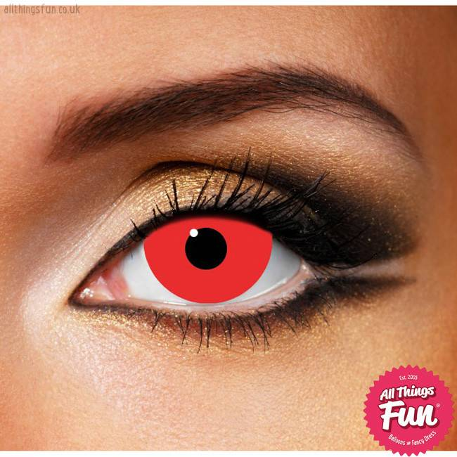 Funky Vision Mini Sclera Red Cosmetc Lense - 90 Day