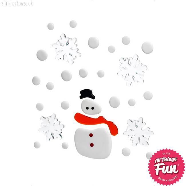 Smiffys christmas gel window stickers smiffys christmas gel window stickers