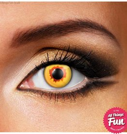 Funky Vision Gold Vampire Cosmetic Lens - 90 Day