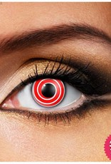 Funky Vision Red Spiral Cosmetic Lens - 90 Day
