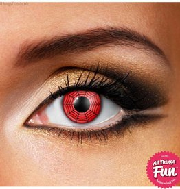 Funky Vision *SP* Red Web Cosmetic Lens - 90 Day