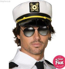 Smiffys White Captains Hat