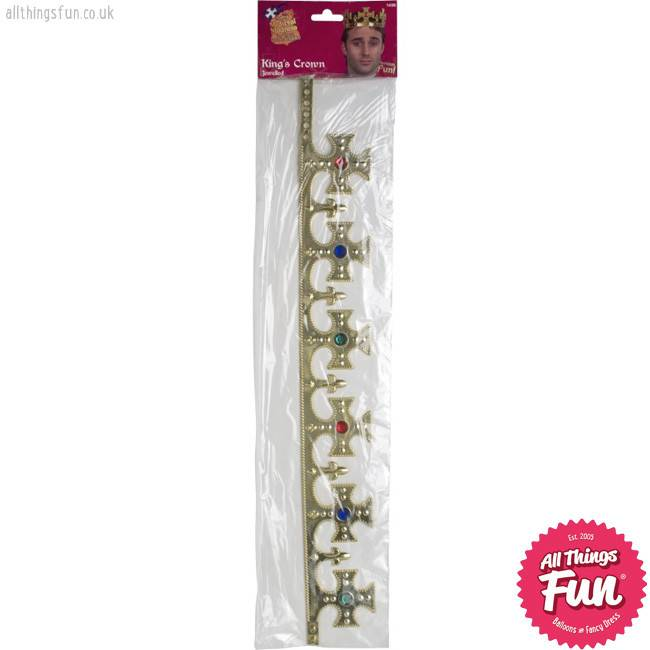 Smiffys Jewelled Kings Gold Crown