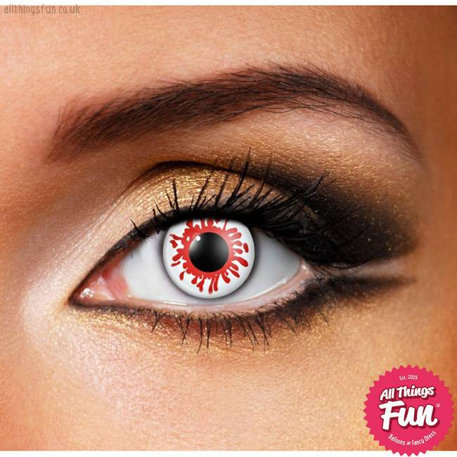 Funky Vision Blood Splat Cosmetic Lens - 90 Day
