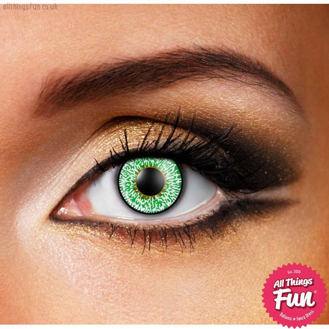 Funky Vision Green 3 Tone Cosmetic Lens - 90 Day
