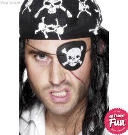 Smiffys Skull & Crossbones Pirate Eyepatch