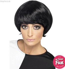 Smiffys 60's Black Psychedelic Wig