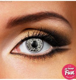 Funky Vision *SP* Glimmer Black and Gold Cosmetic Lens - 90 Day