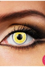 Funky Vision Glimmer Gold Cosmetic Lens - 90 Day