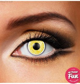 Funky Vision *SP* Glimmer Gold Cosmetic Lens - 90 Day