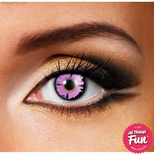 Funky Vision *SP* Purple Witch Cosmetic Lens - 90 Day