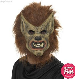 Smiffys Brown Werewolf Foam Latex Mask