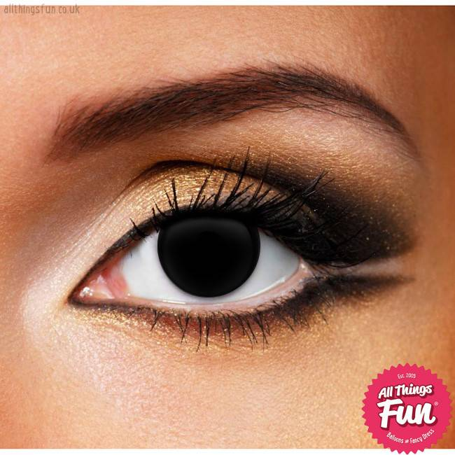 Funky Vision Blind Black Cosmetic Lens - 90 Day