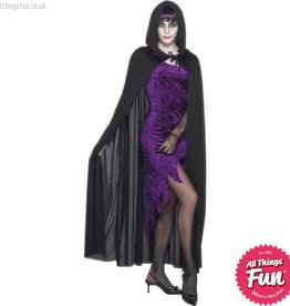 Smiffys Black Hooded Vampire Cape - Unisex