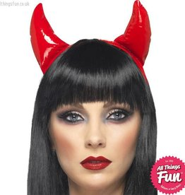 Smiffys Red Devil Horns on a Headband
