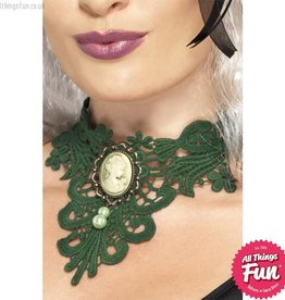 Smiffys Femme Fatale Gothic Lace Choker
