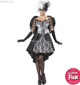 Smiffys *DISC* Dark Angel Masquerade Costume