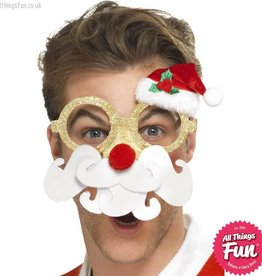 Smiffys Santa Comedy Glasses