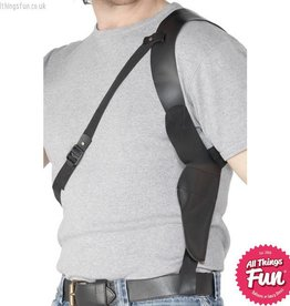 Smiffys Black Leather Look Shoulder Holster